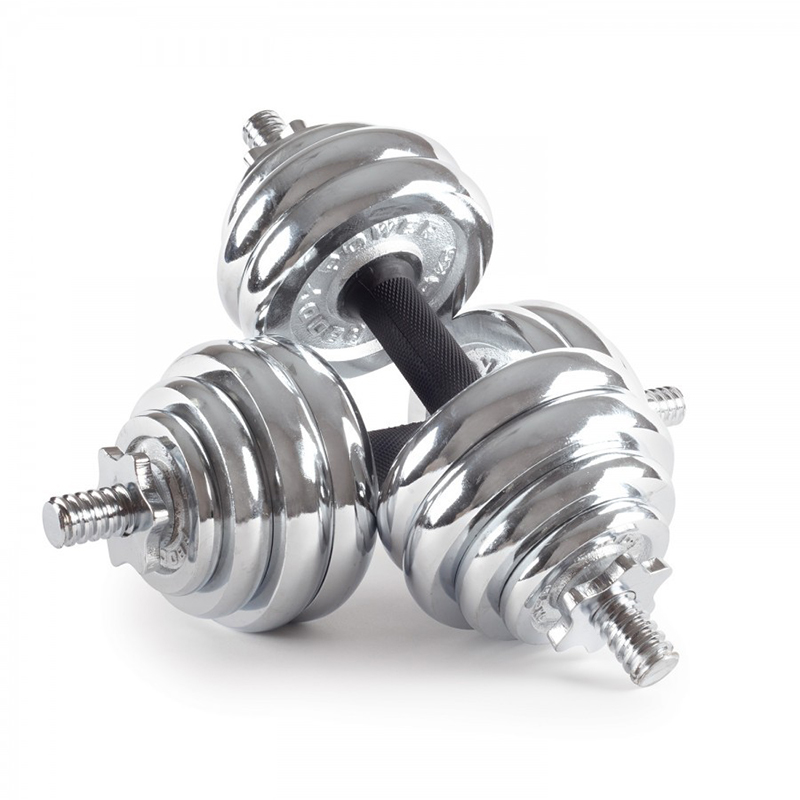 Adjustable Chrome Dumbbell Set