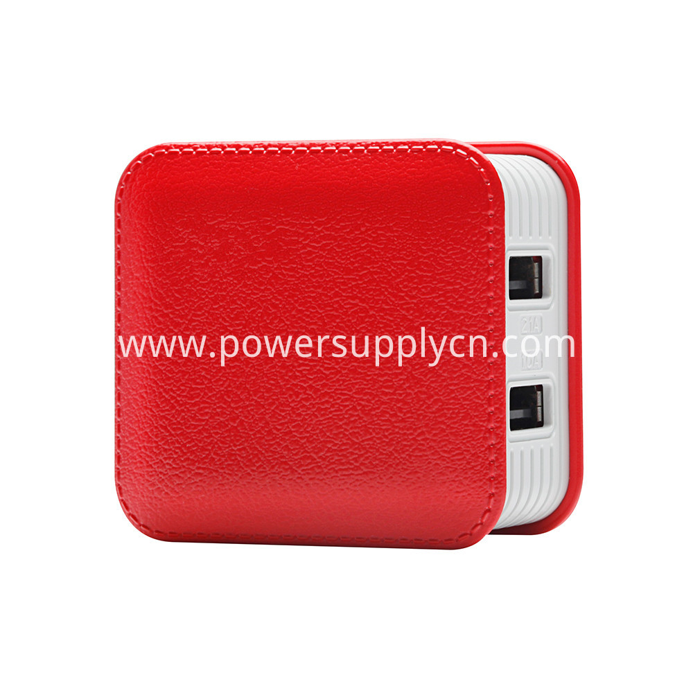 Foldable Imitation Leather Usb Charger