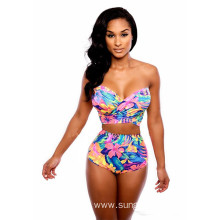2017 Print Flower Swimwear Brazilian Bikini Set