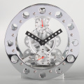 White Metal Bell Alarm Gear Clock