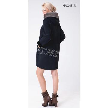 factory customized for Women Fur Lining Leather Coat Long Fur Coats for Autumn and Winter export to Spain Exporter