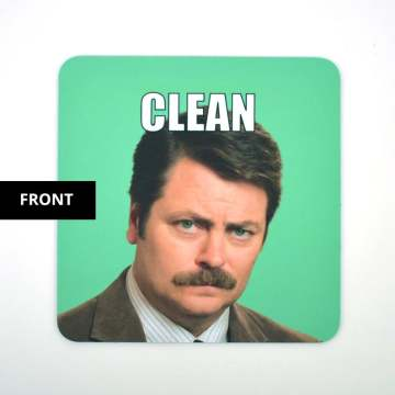 Ron Swanson Dishwasher Magnet Clean Dirty