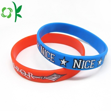 Arrows Shape Print Bracelet Custom Brand Silicone Wristbands