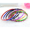Butterfly Engraved Aluminium Alloy Bangles Jewelry For Women