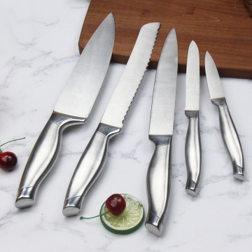 Hollow handle stainless steel kitchen knife set