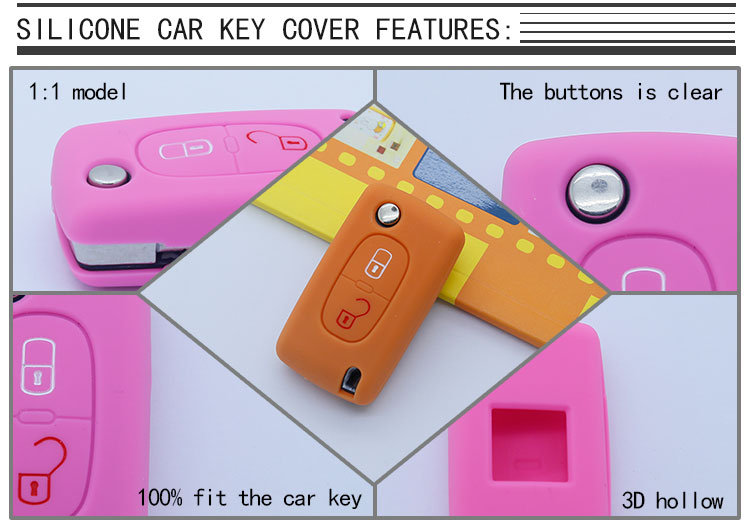 peugeot silicone car key bag