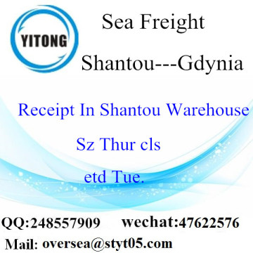 Shantou Port LCL Consolidation To Gdynia