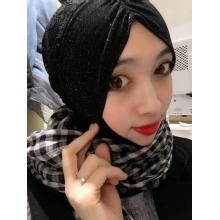 Black knitted gauze scarf