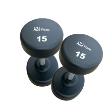 OEM for China Rubber Dumbbells,Rubber Coated Dumbbell,Weight Lifting Rubber Dumbbell Supplier 15LB Black Rubber Round Dumbbell export to Singapore Supplier