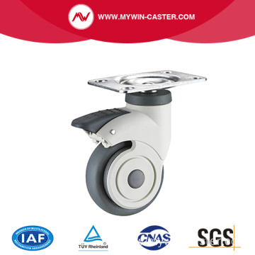 New Design Plate Braked Medical Caster