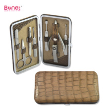 Good Quality for Leather Manicure Set 8pcs high end professional manicure pedicure set export to Netherlands Manufacturers