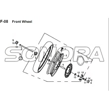 F-08 Front Wheel  JET 14 XS175T-2 For SYM Spare Part Top Quality