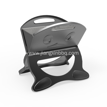 X-Shape Foldable Charcoal Grill with Smile Pattern