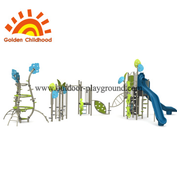 Leaf Natural Outdoor Playground Equipment For Children