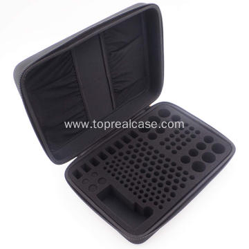 Hard battery organizer storage box carrying case bag