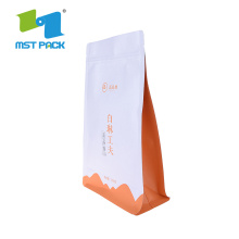 Food Grade Doypack 100% Biodegradable Paper Plastic Bag For Tea Packing