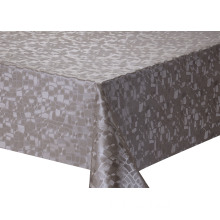 Solid Embossed Fabric Elegant Wedding Tablecloth