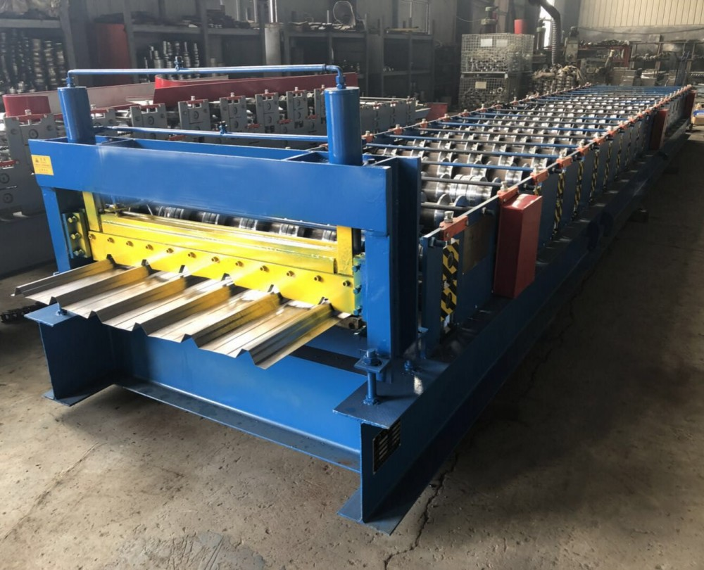Single Layer Trapezoidal Roofing Sheet Roll Forming Machine