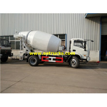 Yuejin 2500L Small Concrete Mixer Trucks