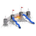 HPL Multifunction Park Toys Playground With Spiral Slide