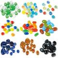 mix color loose glass marbles game playing glass balls
