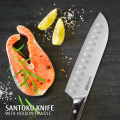 7 inch Santoku Knife With Wood Handle