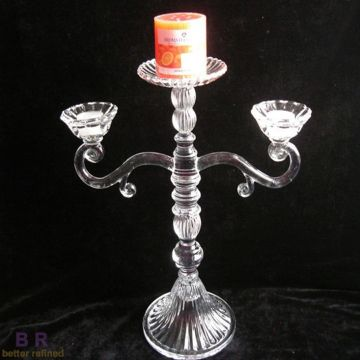 Decorative Clear Glass Candle Holder