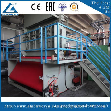 Low price AL-2400 S 2400mm nonwoven machine made in China