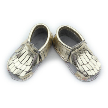Hot Selling Gold Genuine Leather Casual Baby Sandals