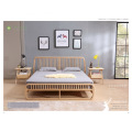 Delicate Slim Light Ash Solid Wood Bedroom