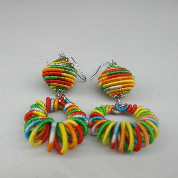 Handmade Woven Women Thread Earrings