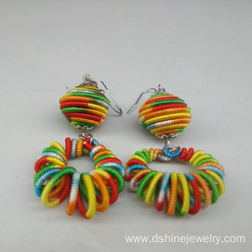 Customized Handmade Woven Aestheticism Women Thread Earrings