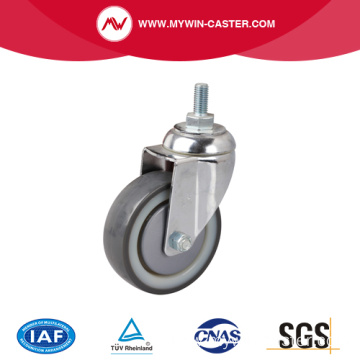 Chrome 4 Inch 130Kg Threaded Swivel TPU Caster
