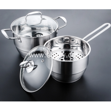Stainless Steel Cookware Set Steamer Pot Milk Pot