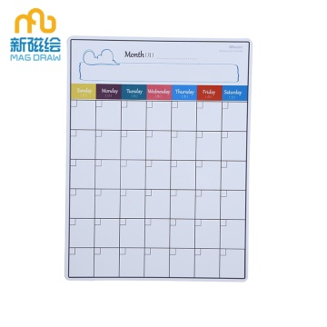 Custom Dry Solonable Kalender Writable White Board Magnets