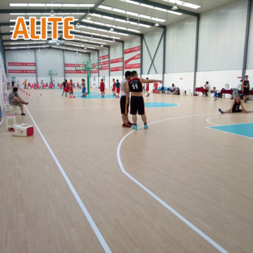 gymnasium room pvc synthetic sports flooring