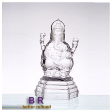Hand Pressed Crystal Ganesh Glass Decoration