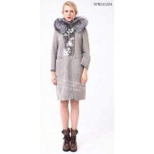 Hot Sale for Ladies Shearling Coat Long Grey Coats for Autumn supply to Netherlands Manufacturer
