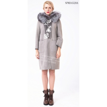 Factory Outlets for Offer Women Shearling Coat,Merino Shearling Coat,Ladies Shearling Coat From China Manufacturer Long Grey Coats for Autumn supply to Spain Exporter