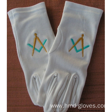 Masonic Sword Cotton Gloves