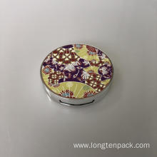 3D pattern round compact case
