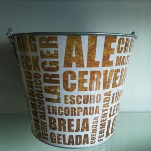 Big size round bucket with bottle opener