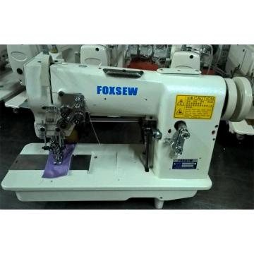 Double Needle Hemstitch Picoting Sewing Machine with Puller and Cutter
