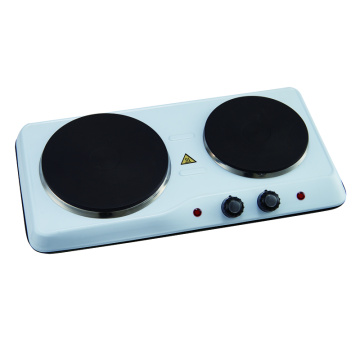 Kitchen Countertop Cast-Iron Double Burner 2500W