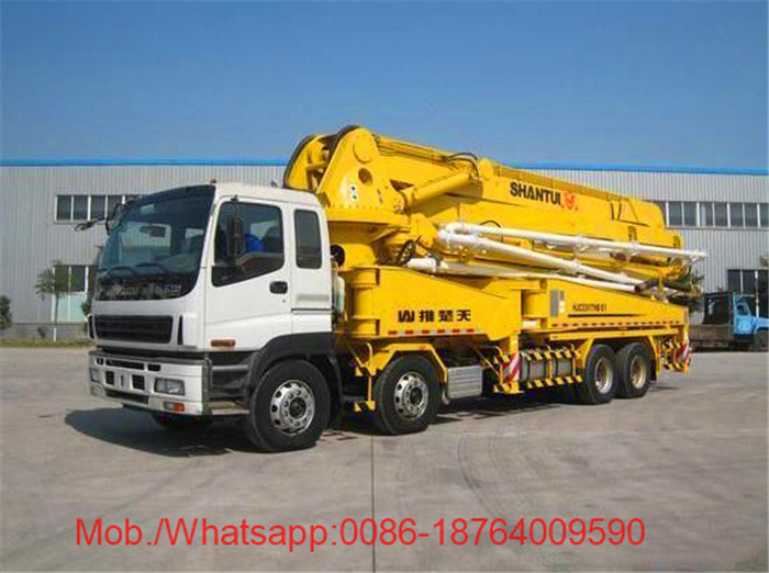48m Boom Hydraulic Oil Cooling Jib Pump Vehicle