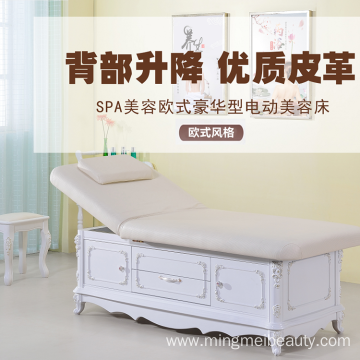 Luxury Style Wood Material Electric Facial Massage table