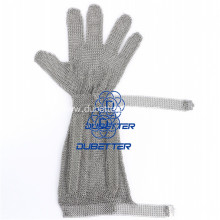 Stainless Steel Chainmail Mesh gloves with long cuff