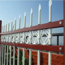 China OEM for Zinc Steel Fence White Steel PVC Coated Picket Iron Fence supply to Gibraltar Manufacturers