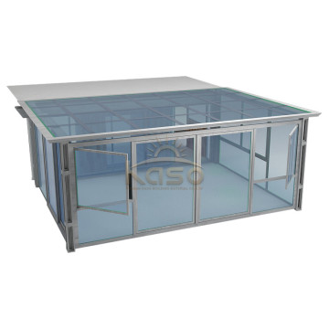 High Quality for Glass Sunroom,Glass House,Glass Room Manufacturer in China Shipping Container Glass House Wood Pvc Patio Cover export to Vanuatu Manufacturers