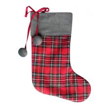 20 Years manufacturer for Christmas Stocking Holders Scottish style christmas stocking gift with plush ball export to Armenia Manufacturer